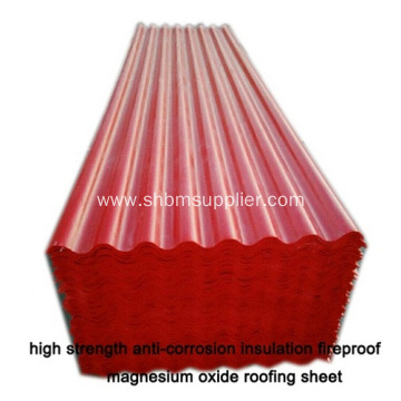 Heat Insulation Fireproof MGO Roofing sheet For Workshop