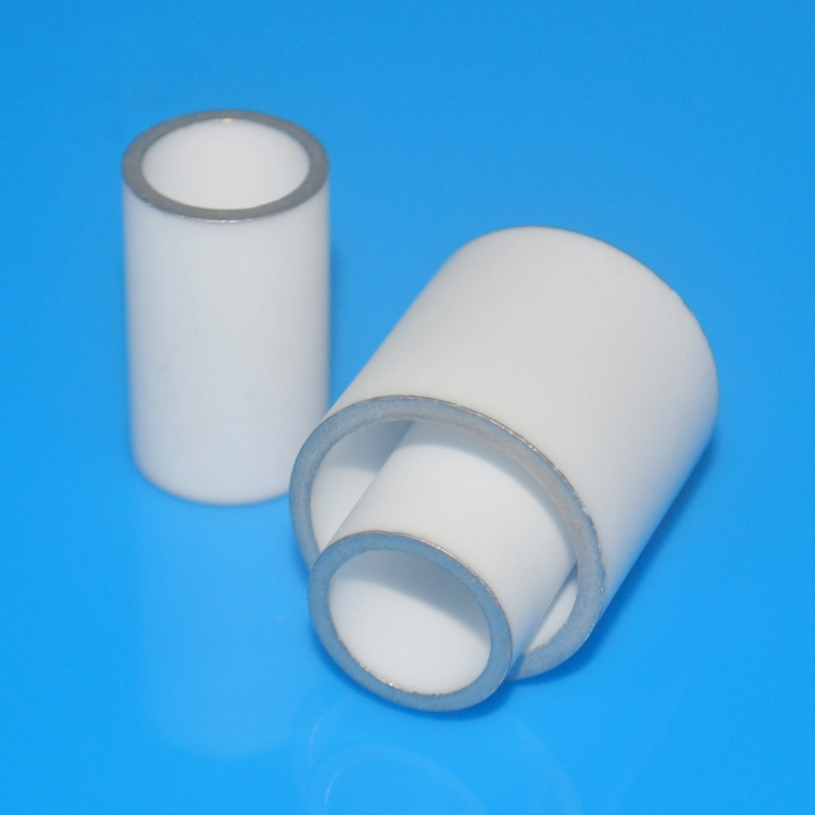 Ceramic tube with metallic coating