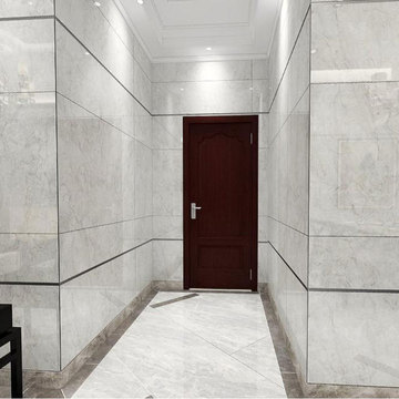 Arabescato carrara vs bianco white bathroom hampton tile