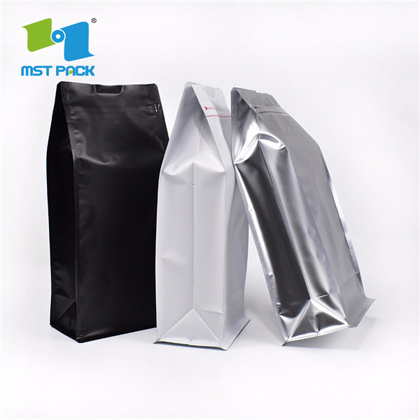 Coffee Side Gusset Bag With Flat Bottom Pouch