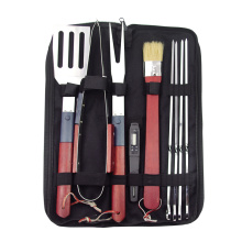 9pcs bbq grill set light led tools