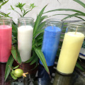 Long Buring Time Colorful Glass Grave Religious Candle