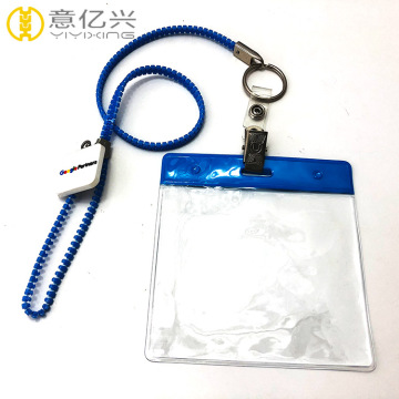Variours styles blue and pink zipper lanyard