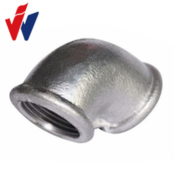 Leading for Malleable Iron Pipe Fitting Beaded Ribs Galvanized Malleable Iron Elbow Pipe Fittings Beaded export to Russian Federation Factory