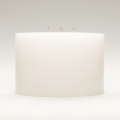white unfragranced 3 Wick cylindrical Pillar Candle