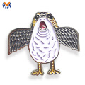 Lovely bird animal metal pin badge for kids