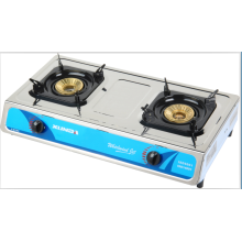 2 Burner Table Top Gas Burner with Cover