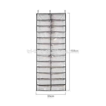 over the door shoe rack transparent fabric hanging shoe storage organizer