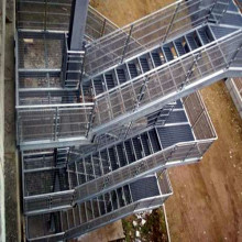 Steel Grid Fire Escape Stairs