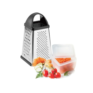 square grater with PP plasic bowl