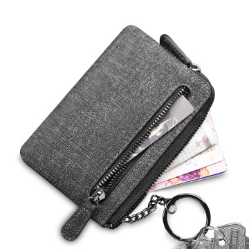 Polyester Men Wallet Pouch with Key Ring