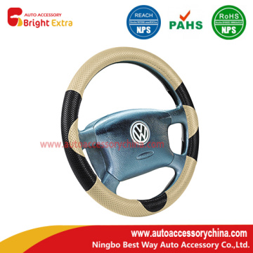 Lowest Price for Steering Wheel Cover Repair Black And Beige Steering Wheel Cover export to Grenada Manufacturers