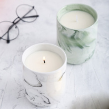 100% Soy wax scented oil candle in luxury ceramics jar holder
