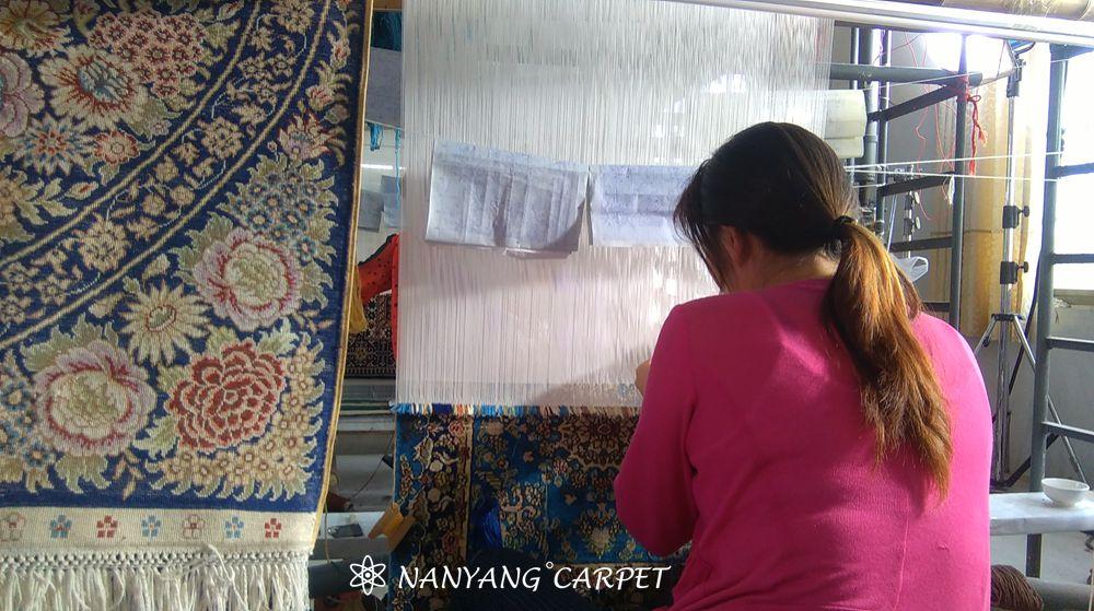 handwoven silk rug