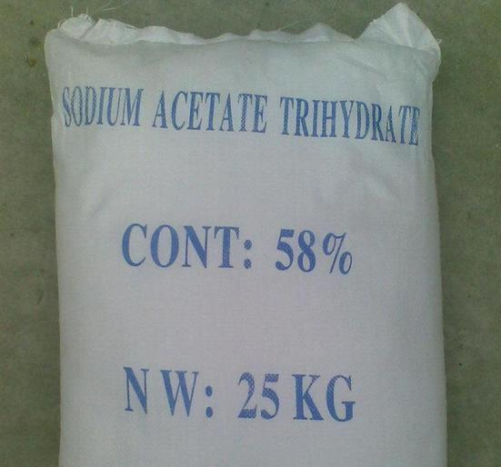 sodium acetate which is oderless crystal