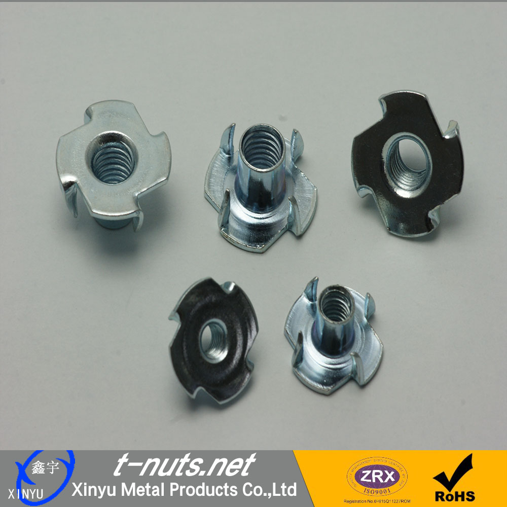 SS Embedded T Nuts With 4 Claws