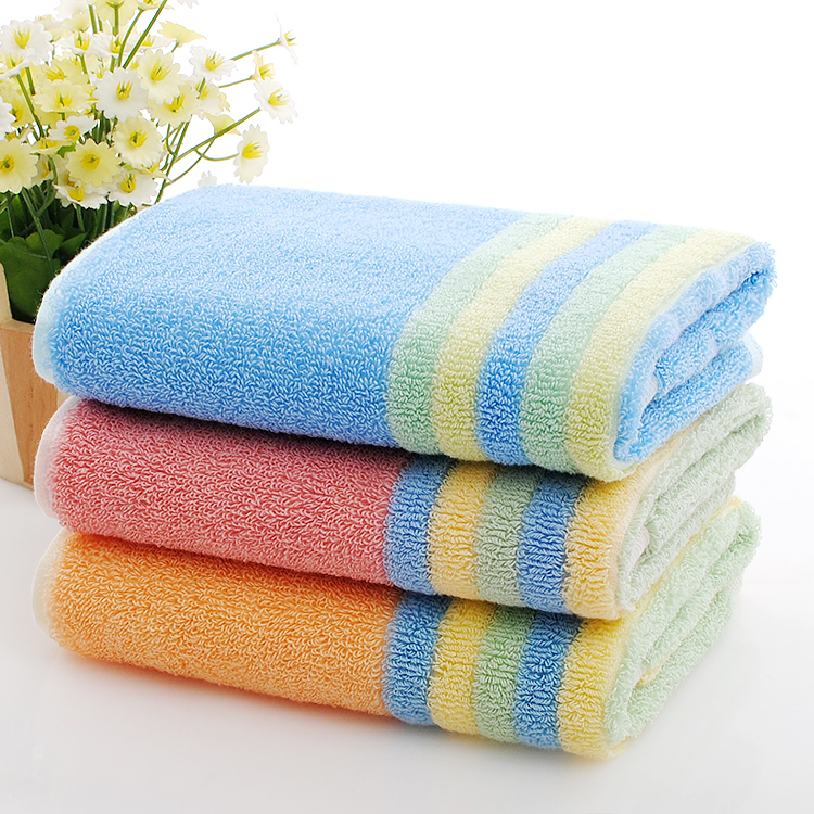 Pure Cotton Washcloth Yarn Dyed Striped Towels