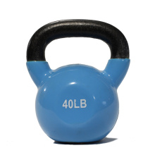 40 LB Blue Vinyl Coated Kettlebell