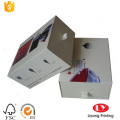 Rigid cardboard sliding gift box with ribbon