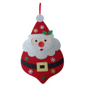 Christmas santa claus pattern hanging wall sign
