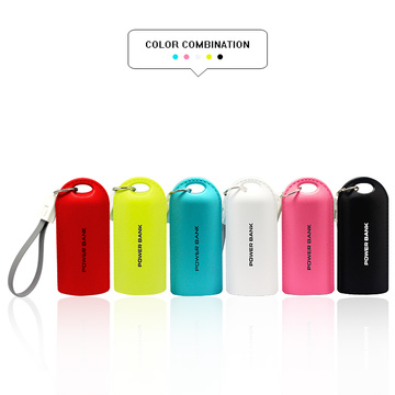 Portable keychain power bank with cable