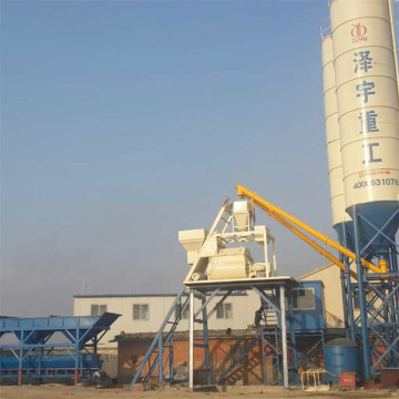 HZS75 wet mix belt conveyor batching plant specification
