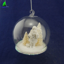 clear glass ball with Santa Claus Christmas decoration