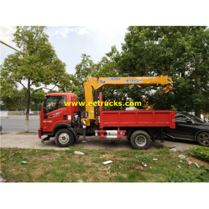5ton Three arms XCMG Truck Cranes