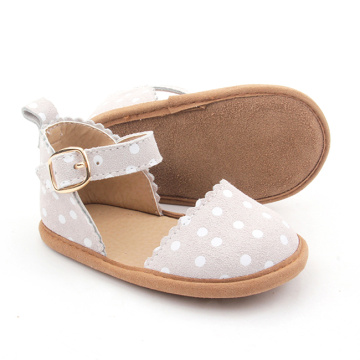 Flower Baby Dress Spot Shoes