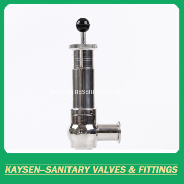 Sanitary pressure relieve safety valves with scale