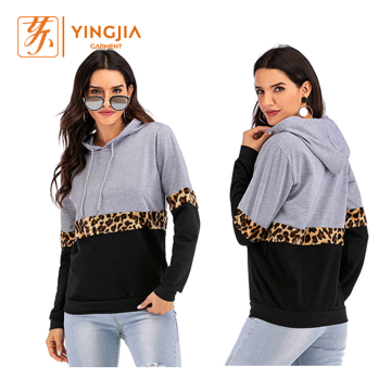 Women's Autumn Color Matching Casual Pullover Hoodies
