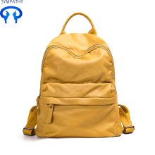New PU wash backpack women's bag leisure travel