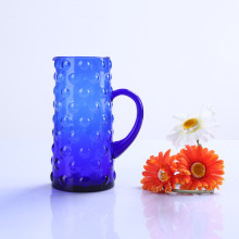 Hand Made Blue Water Glass Pitcher
