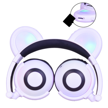 Hot selling attractive for Bear Ear Headphones Consumer Electronics Glowing Panda Ear Headphone export to Mauritania Supplier