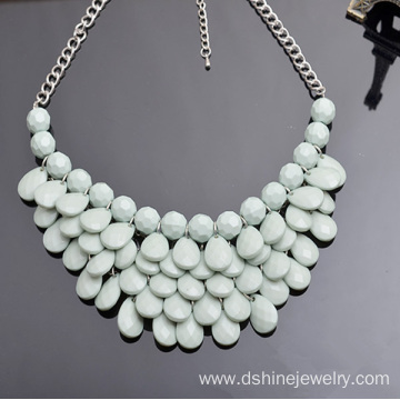 Statement Bubble Necklace Beads Necklace With Earring Set