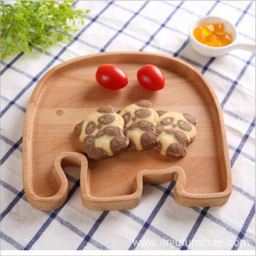 European Unfinished natural fruit plate snacks candy wooden tray
