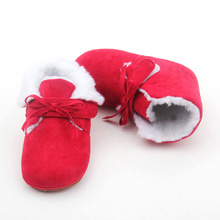 Red Bowknot Baby Snow Boots