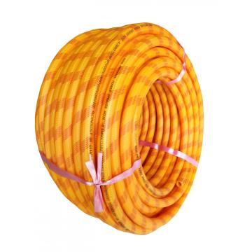 Multi-colored and size braided PVC spray hose
