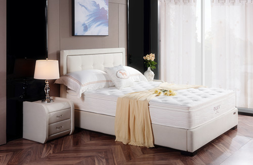 Snow White Pocket Spring Foam Mattress