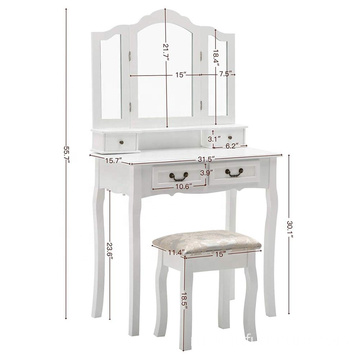 Factory Mirrored Vanity Dressing Table