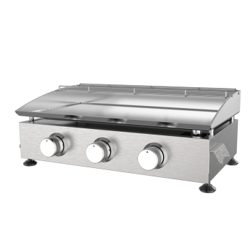Stainless Steel 3 Burner Gas Griddle