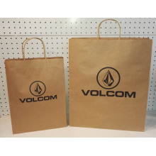 Factory wholesale price for Brown Kraft Paper Bag With Twist Handle Paper Shopping Bags Bulk export to Monaco Supplier