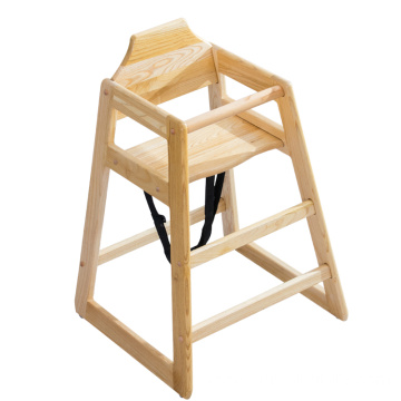 Restaurant Home High Quality Solid Wood Baby Feeding Dining High Chair