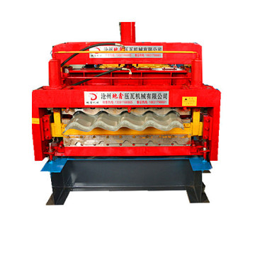 double layer glazed corrugated roof roll forming machine