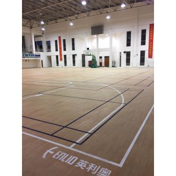 Vinyl Wood Color Indoor Basketball Court Mat