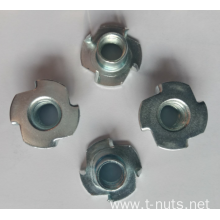 Zinc plated Carbon steel  4 Prongs T-Nuts