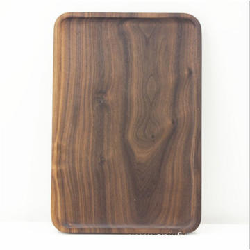 Wood Rectangular Serving Trays Medium Black Walnut plate