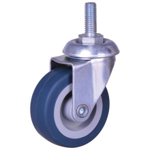 2 inch thread stem caster with TPE wheel