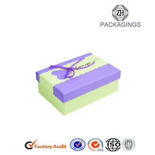 China supplier OEM for Jewelry Ring Box Fancy Gift Paper Board Boxes With Ribbon export to Jordan Factory