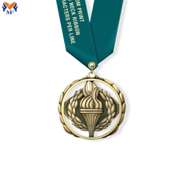 High quality custom medals awards and print ribbons